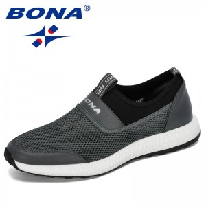 BONA 2020 New Designers Casual Shoes Mesh Men Sneakers Fashion Lightweight Man Shoes Walking Trainers Zapatillas Hombre Footwear