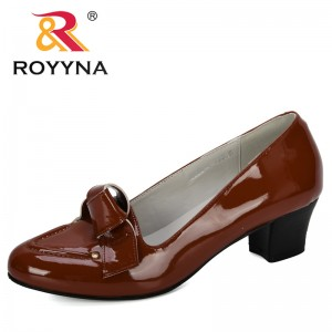 ROYYNA 2019 New Designers Female Pumps Microfiber Women Shoes Fashion Office Work Wedding Party Shoes Ladies Heels Shoes Comfy