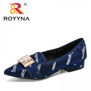 ROYYNA 2019 New Designer Fashion Women Shoes Pointed Toe Pumps Dress Lower Heels Shoes Wedding Shoes Women Zapatos Mujer Female
