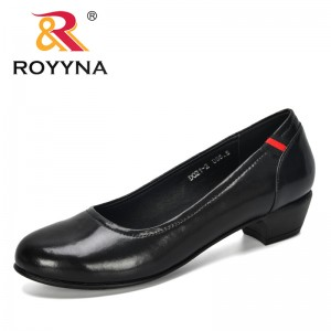 ROYYNA 2019 New Designers Microfiber Shallow Women Shoes Office Working Wedding Party Shoes Ladies Low Heels Pumps Comfortable
