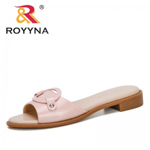 ROYYNA 2020 New Designers Microfiber Women Slippers Comfortable Slides Woman Flat Summers Shoes Solid Ladies Flip Flops Trendy