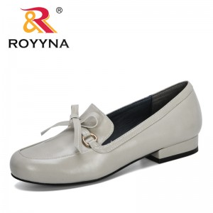 ROYYNA 2020 New Designers Microfiber Dress Shoes Office Lady Shoes Lower Heel Women Shoes Outdoor Pumps Ladies Shoes Comfortable