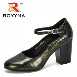 ROYYNA 2020 New Designers High Heels Female Zapatos Mujer Round Toe Pumps Women Shoes Woman Party Ankle Strap Pumps Comfortable
