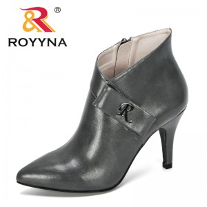 ROYYNA 2019 New Designers Fashion Style Autumn Women Botas Shoes Casual Women High Heels Pumps Ankle Boots Mujer Zapatos Comfy