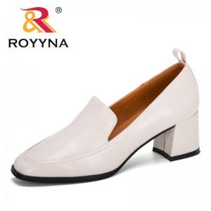 ROYYNA 2020 New Designers Slip-On Pumps Women Shoes Round Toe High Heels Dress Work Pumps Comfortable Ladies Wedding Footwear
