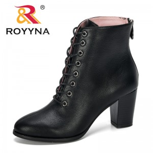 ROYYNA 2019 New Designers Microfiber Boots Female Autumn Shoes Women Boots Ankle Boots Women Booties Bota Feminimo Botas Mujer