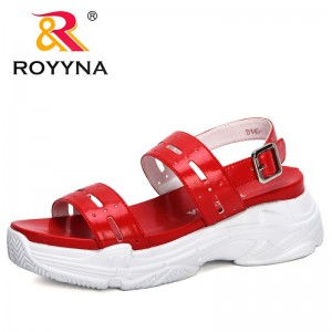 ROYYNA 2020 New Designers High Heels Sandals Summer Women Flip Flop Chaussures Femme Platform Sandals Sandalia Feminina Trendy