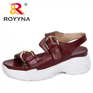 ROYYNA 2020 New Designers Sandals Summer Women Flip Flops Fashion High Quality Flat Sandals Woman Trendy Sandalias Mujer Comfy