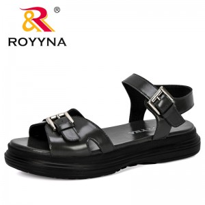 ROYYNA 2020 New Designers Popular Style Thick Heels Sandals Women Summer Flip Flop Chaussures Platform Sandals Sandalia Feminina