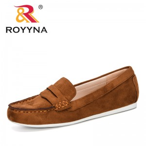 ROYYNA 2020 New Designers Office Shoes Low Heels Dress Shoes Woman Flock Pumps Boat Shoes Ladies Work Shoes Zapatos Mujer Comfy