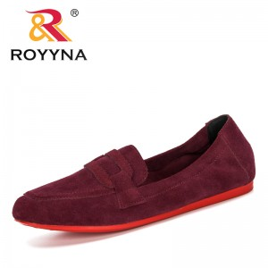ROYYNA 2020 New Designers Casual Slip On Women Shoes Flock Comfortable Soft Bottom Pumps Woman Vintage Style Ladies Footwear
