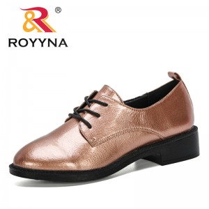 ROYYNA 2020 New Designers Lace Up Shoes Women Loafers Woman Zapatos Mujer Ballet Flats Feminimo Shoes Leisure Footwear Ladies