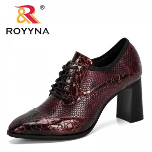 ROYYNA 2020 New Designers Fashion Style Party Shoes Women Wedding Shoes High Heels Pumps Ladies Office Dress Shoes Feminimo