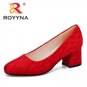 ROYYNA 2020 New Designers Pumps Shallow Mouth Women Shoes Fashion Office Work Wedding Party Shoes Ladies High Heel Shoes Female
