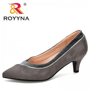ROYYNA 2020 New Designers Pointed Toe Pumps Dress High Heels Boat Shoes Women Shadow Wedding Shoes Ladies Zapatos Mujer Trendy