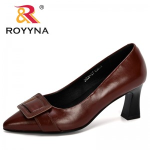 ROYYNA 2020 New Designers Popular Style Microfiber Pointed Toe Women Pumps High Heels Wedding Party Shoes Ladies Dress Footwear