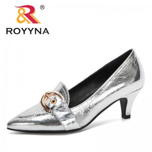 ROYYNA 2020 New Designers Work Pumps Women Shoes Elegant Heeled Women Stiletto Party Pointed Toe Thin Heels Shoes Ladies Trendy