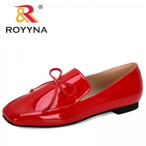 ROYYNA 2019 New Designers Women Shoes Oxford SquareToe Lower Heel Pumps Casual Shoes Woman Butterfly-Knot Classic Shoes Feminimo
