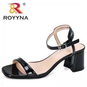 ROYYNA 2020 New Designers Popular Fashion Summer Peep Toe Flip Flops Sandals Women Loafers Comfortable Footwear Ladies High Heel