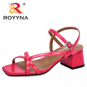ROYYNA 2020 New Designers Zapatos Mujer Ladies Shoes Woman Chaussure Gladiator Women Summer Sandals Pumps Cross-tied Comfortable
