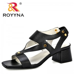 ROYYNA 2020 New Designers Comfort Sandals Women Summer Flip Flops Fashion High Quality Sandals Gladiator Sandalias Mujer Trendy