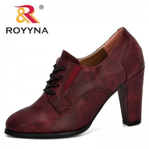 ROYYNA 2020 New Designers Lace Up High Heels Korean Fashion Pumps Women Elegant Shoes Woman Trendy Lady Shoes Outdoor Footwear