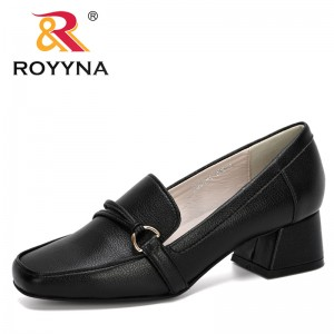 ROYYNA 2020 New Designers Spring Autumn Women Shoes Ladies Round Toe Heels Pumps Woman Slip On Soft Wedding Shoes Female Trendy