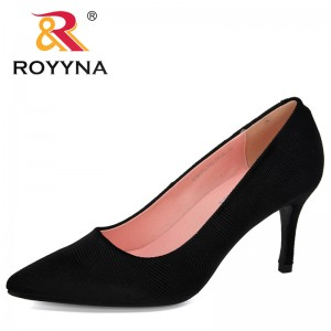 ROYYNA 2019 New Designers High Heels Pumps Woman Shoes Pointed Toe Dress Shoes Basic Pumps Women Boat Zapatos Mujer Comfortable